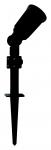 Megatron CAPPI IP54 schwarz 3m für LED PAR38 max 16W-E27