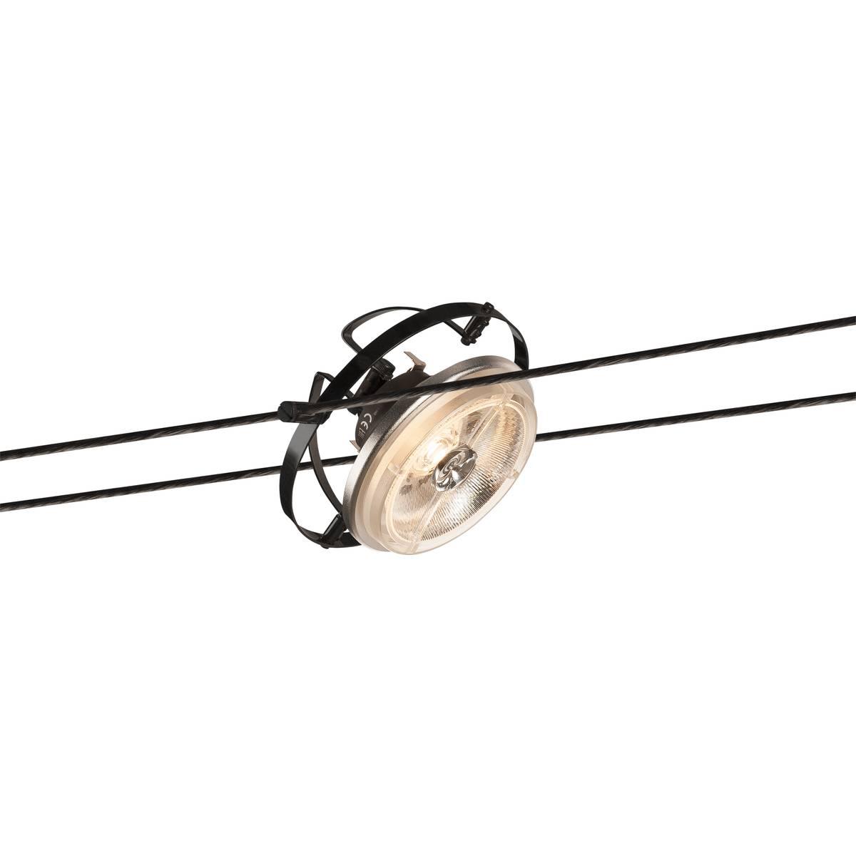 SLV 1002691 TENSEO TRANSFORMATOR für Niedervolt-Seilsystem schwarz 50VA