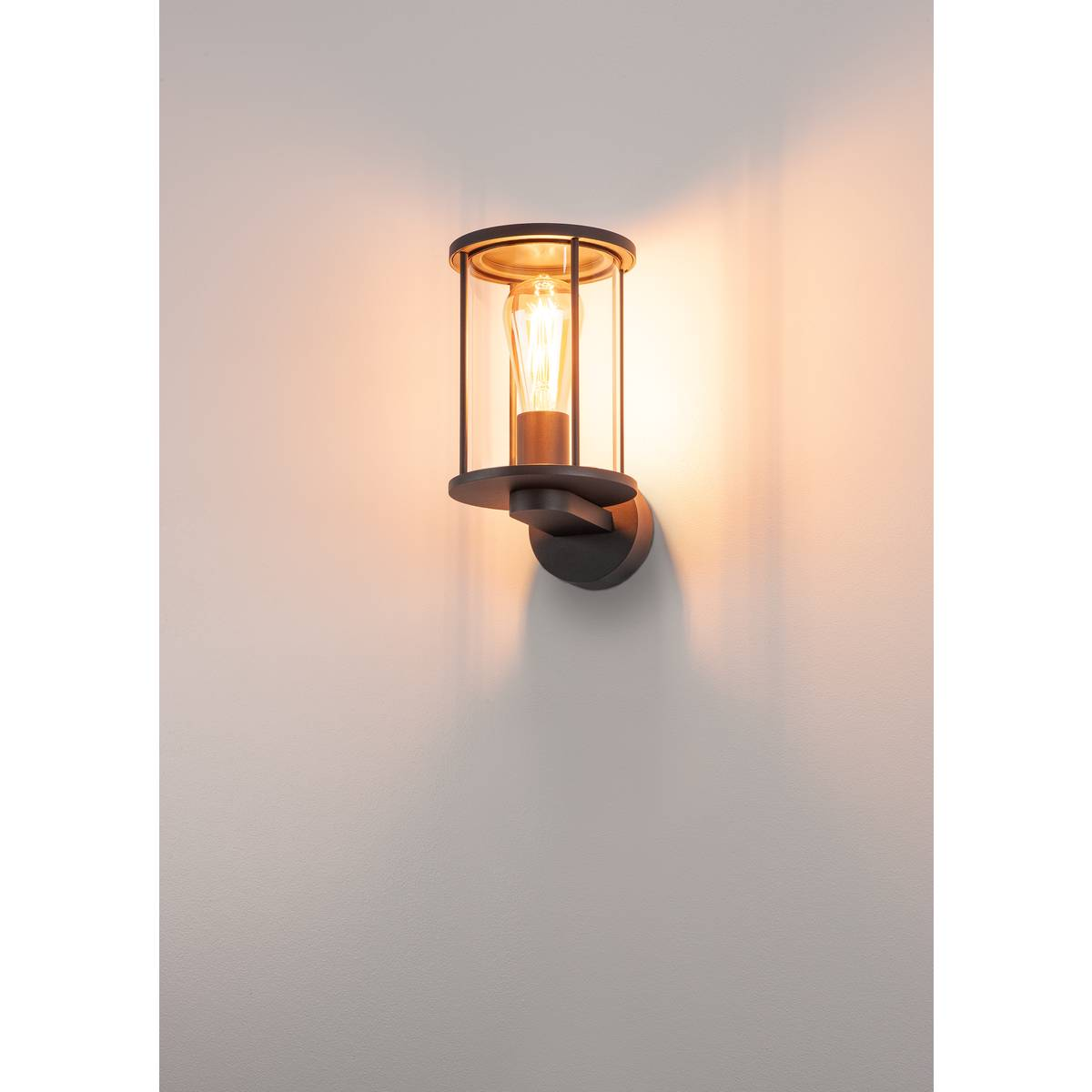 anthrazit SLV PHOTONIA Wandleuchte rund klares Glas Lampe Licht Garten Außen