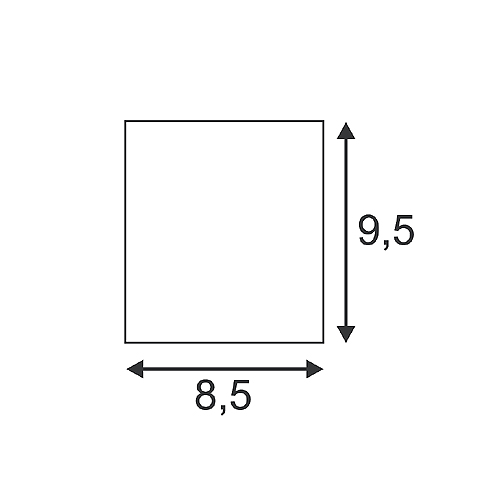 slv triledo square cl aufbau downlight mattwei led 6w. Black Bedroom Furniture Sets. Home Design Ideas