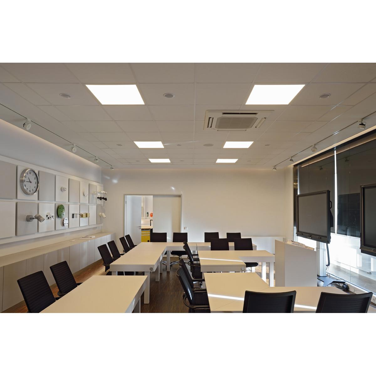 slv led panel deckeneinbauleuchte wei 230v 3000k 595x595mm g nstig online kaufen bei. Black Bedroom Furniture Sets. Home Design Ideas
