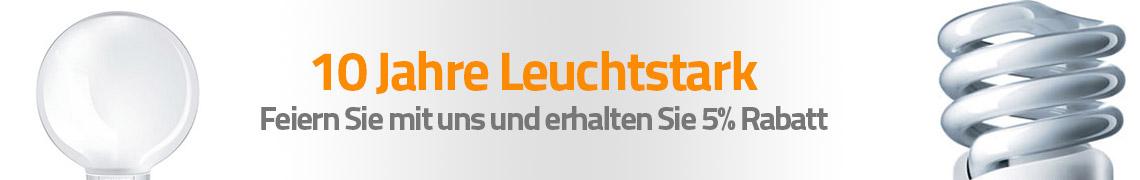 Promotion Banner 10 Jahre Leuchtstark